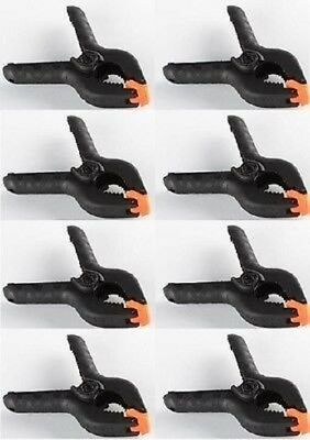 "8 Pcs 4"" inch Heavy Duty Plastic Spring Clamps Tips Tool Clip 2"" Jaw Opening"