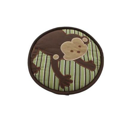 Kids Line 2405 Brown Embroidered Baby Boy Nursery Monkey Wall Decor BHFO