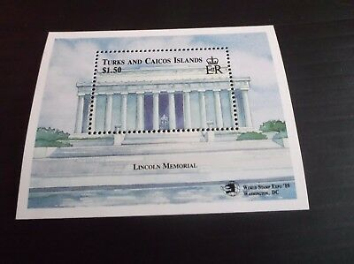 Tutks And Caicos Islands 1989 Sg Ms952 World Stamp Expo Stamp Exn (1St Issue)Mnh