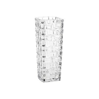 Weave Pattern Crystal Vase 15.5 cm Tall - Comes Boxed