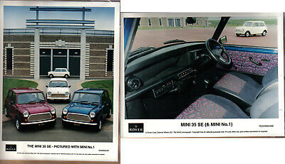 Mini 35 SE & Mini No 1 original colour Press Photographs x 2 Pub. Nos. 467 & 468