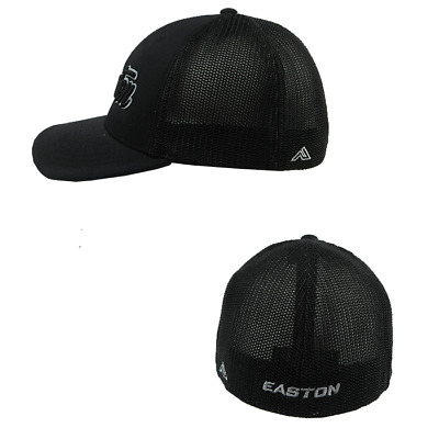Easton Hat by Pacific (404M) All Black/Grey/Bk Script youth Hat (6 3/8 - 6 7/8)