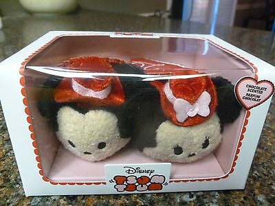 "Disney Store USA 2017 Mickey & Minnie Valentine's Day Tsums NWT 3.5"" Authentic"
