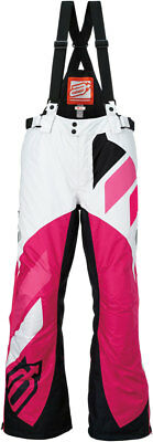 ARCTIVA Snow Snowmobile Womens 2017 COMP Insulated Bibs (White/Pink) Choose Size