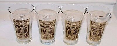 4 Vintage Coca Cola Glasses The Archives 16oz Collectable Flair