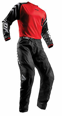 THOR MX Motocross Men's 2018 SECTOR ZONES Jersey/Pants Kit (Red) Choose Size