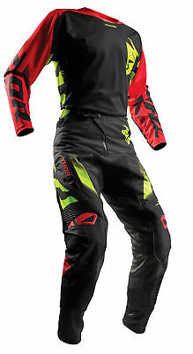 THOR MX Motocross Men's 2018 FUSE RAMPANT Jersey/Pants Kit (Black/Red)