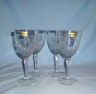 "Set of 4 Luminarc Cristal d'Arques Durand DIAMANT Clear 6 7/8 "" Wine Glasses"