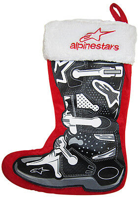 "Smooth Industries ALPINESTARS Holiday Christmas Stocking (Red/Black) 17"" tall"