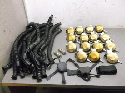 15 Regulators 15 Hoses and Misc. Other Parts for MSA Hip-Air Breathing Apparatus