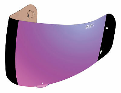 ICON ProShield Shield/Visor for Alliance/GT Helmets (Fog Free RST Mirror Purple)