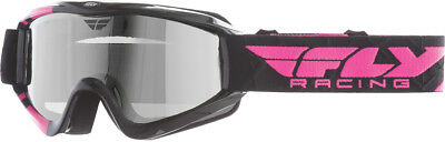 FLY RACING Snow Snowmobile - Zone Pro Goggles (Pink w/Chrome Smoke Dual Lens)
