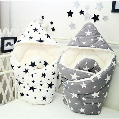 Newborn Baby Fleece Blanket Thick Towel Winter Warm Sleeping Bag Baby Stroller