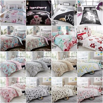 New Design Duvet Quilt Cover Bedding Set With PillowCase Single Double King Size