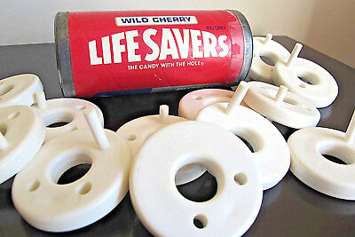 Vintage Life Savers Puzzle Wild Cherry Red Stacking Puzzle Lifesaver Advertising