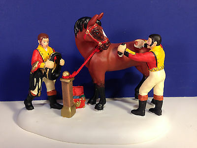 Dept 56 Dickens Village TENDING THE ROYAL HORSES w/box NEW! Combine Shipping!
