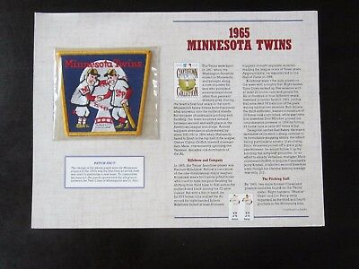 1965 Minnesota Twins Cooperstown Collection Patch 1996 Harmon Killebrew, Oliva