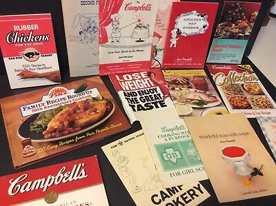 Lot of 115 Campbell's Soup Compay Recipe Books & Promotional Flyers