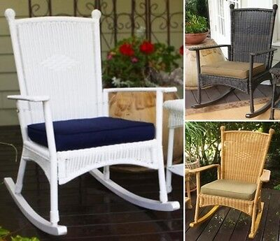 Outdoor Wicker Patio Rocker Furniture Chair Rocking Chairs Steel Frame Durable