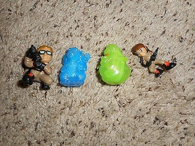 Ghostbusters Ecto Minis Lot of 4 slimer Kevin Erin blue ghost