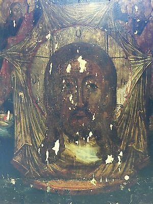 Antique 17/18th Century Russian Icon Egg Tempera on Wood