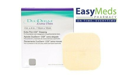 Duoderm Extra Thin 10cm x 10cm Hydrocolloid Dressing (s) Pressure Wounds