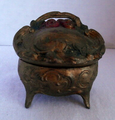 Lovely Antique Victorian Art Nouveau Jewelry Casket Trinket Box