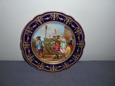 Royal Vienna / Serves Hand Painted Plate