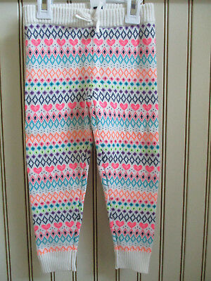 NWT Baby Gap Toddler Girl's Fair Isle Sweater Legging Size 3, 5 ...
