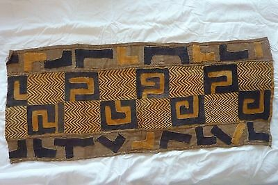 African Cloth Bakuba Raffia Hand Woven Rectangle Applique Wall Decoration #4
