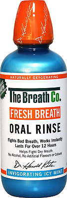 The Breath Co Fresh Breath Oral Rinse - Icy Mint, 500 ml