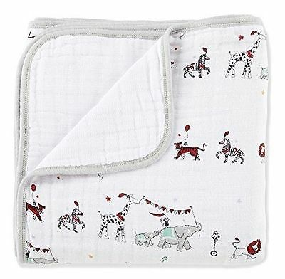 "Aden Anais baby double layers Classic Dream Blanket, Vintage Circus 47""*47"""