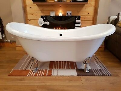 High quality roll top bath. Designer style sink with unit and cast iron radiator