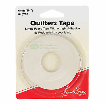 "Sew Easy Quilters Tape 1/4"" (6mm) x 30 Yards, Single Faced"
