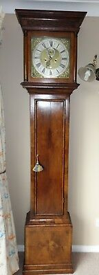 Early/Mid 18th Century Walnut 8 Day Georgian Grandfather Longcase Clock. CC 1740