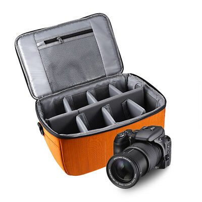 Partition Folding Flexible Padded Camera Lens Insert Bag Dividers Case for DSLR