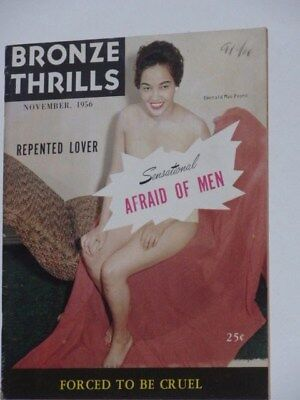 BRONZE THRILLS Magazine November 1956 black americana Adult