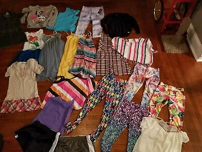 Huge Lot Of Girls Pants shirts Size 12 14 JUSTICE  Cherokee Ralph Lauren Disney