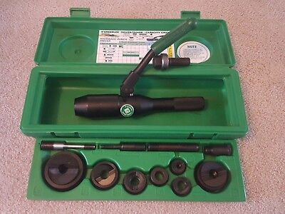 GREENLEE 7804SB/7806SB Quick-Draw Hydraulic Punch Driver with punches