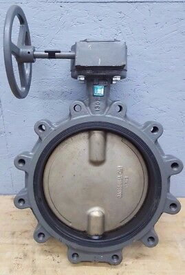 """Milwaukee Butterfly Valve 12"""" w/ Gear and Hand Wheel CL323ED NOS"""