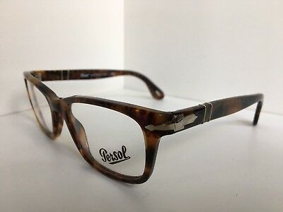 a5a31b1ac0ac8 New Persol 3012-V 108 Havana 52mm Rx Eyeglasses Frame Hand Made in Italy