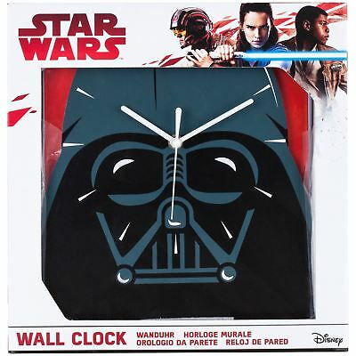 Official Star Wars Darth Vader Shaped Wall Clock Kids Bedroom By Zeon