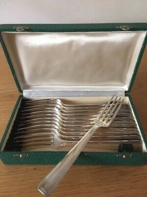 Christofle Apollonox 12 Gabeln / Forks / Fourches 84 Silber / Silver / Argent