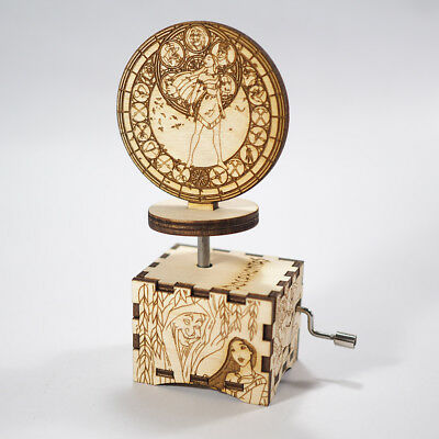 Pocahontas Music Box - Color Of The Wind - Laser cut and laser engraved wood mus