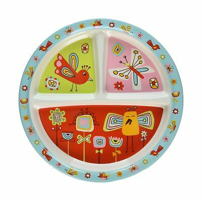 Sugarbooger Divided Suction Plate Birds & Butterflies Birds and Butterflies