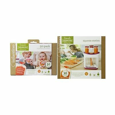 Infantino Squeeze Pouches and Squeeze Station