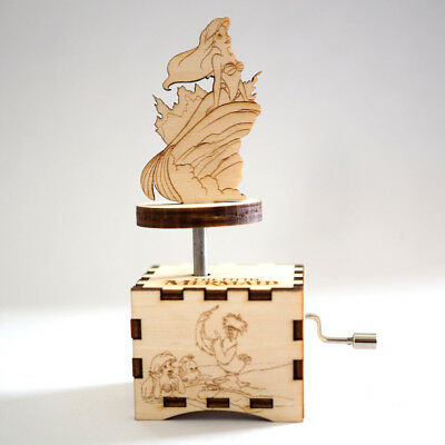 Little Mermaid Music Box - Under the Sea - Laser cut and laser engraved wood mus