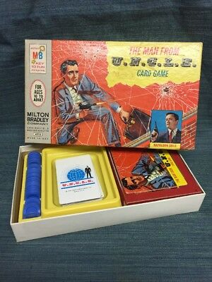 Vintage 1965 Milton Bradley The Man From Uncle Card Game-Complete
