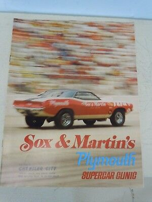 Original '70 Sox & Martin's Plymouth Supercar Clinic Dealership Brochure
