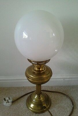 Vintage retro Brass Lamp White Glass Dome Shade Reto/Antique style metal